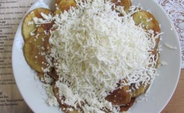 Пържени картофи Слънце със сирене